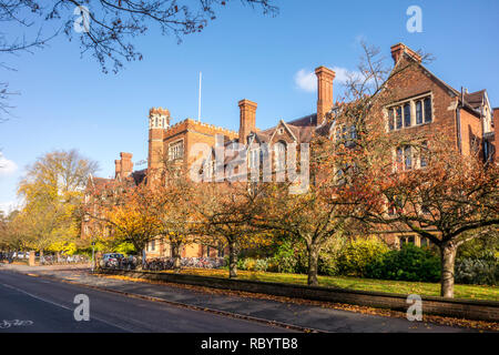 Selwyn College, University of Cambridge. Grange Road, Cambridge, UK - Stock Image