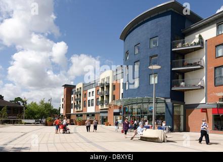 Horsham The Forum shopping area TK Maxx Beales - Stock Image
