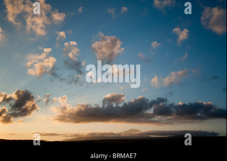 Sunrise morning clouds Mt Ida Crete Greece - Stock Image