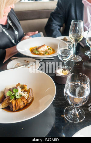 Lunch at the City Social, London, London uk, Tower 42 - Stock Image