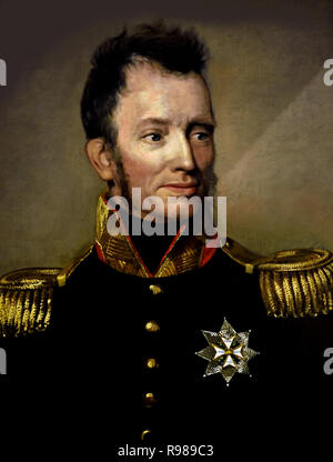 King William I (Willem Frederik, Prince of Orange-Nassau 1772 – 1843)  Prince of Orange and the first King of the Netherlands and Grand Duke of Luxembourg. - Stock Image