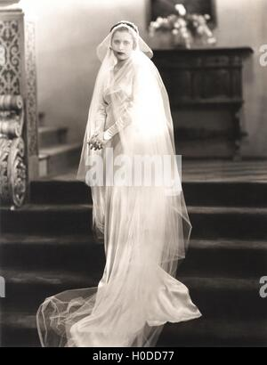 On her wedding day - Stock Image