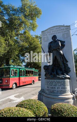 Confederate Civil War Memorial, Wilmington, NC, USA - Stock Image