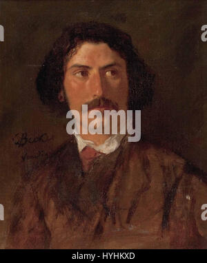 Carl Ludwig Friedrich Becker Portrait Anselm Feuerbach - Stock Image