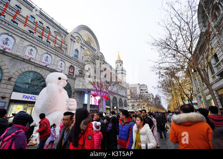 Harbin central street at daytime,China - Stock Image