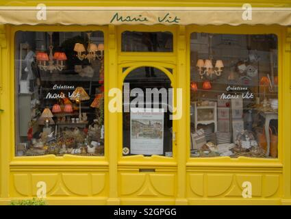 Store front in Honfleur France - Stock Image