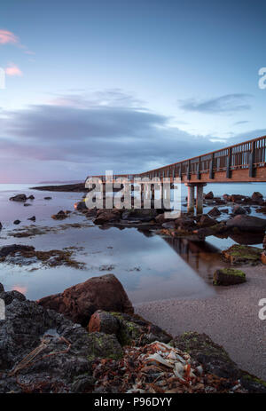 Pans Rocks near Ballycastle on the Causeway Coast in County Antrim, Northern Ireland - Stock Image