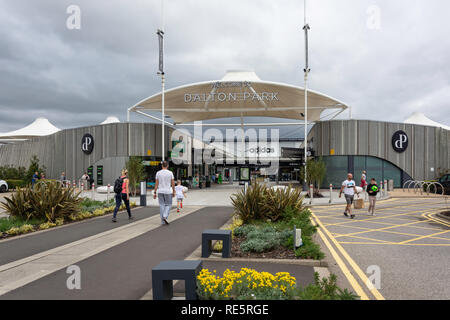 Entrance to Dalton Park Outlet Shopping Centre, Murton, County Durham, England, United Kingdom - Stock Image