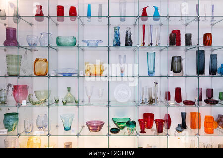 Malaga Museum of Glass and crystal, interior, Malaga Spain Europe - Stock Image