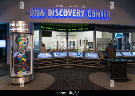 The DNA Discovery Center, a state-of-the-art DNA research laboratory at the Field Museum, Chicago, Illinois, USA. - Stock Image