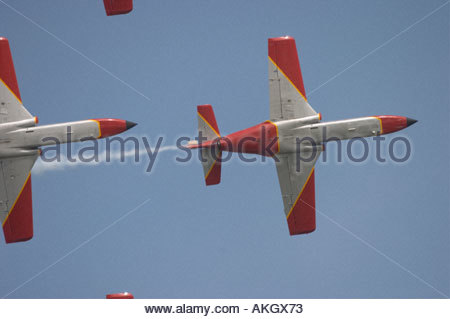 Rivolto Italia Air show 2005 CASA C101 Spanish Air Force - Stock Image