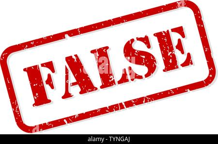False red rubber stamp vector isolated - Stock Image