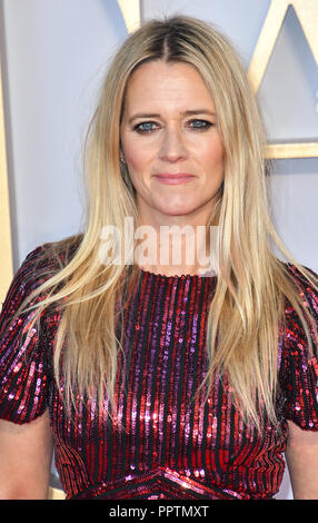 London, UK. 27th September 2018. Edith Bowman attend A Star Is Born UK Premiere at Vue Cinemas, Leicester Square, London, UK 27 September 2018. Credit: Picture Capital/Alamy Live News - Stock Image