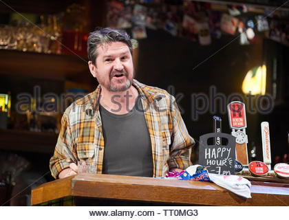 Sweat by Lynn Nottage, A Donmar Warehouse Production directed by Lynette Linton.With Stuart McQuarrie as Stan.Opens at The Gieilgud Theatre on 12/6/19 pic Geraint Lewis EDITORIAL USE ONLY - Stock Image