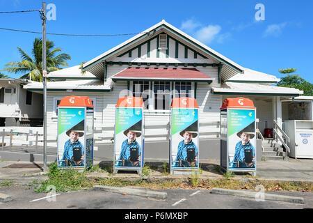 Telstra advert in Thursday Island Township, Far North Queensland, FNQ, QLD, Australia - Stock Image