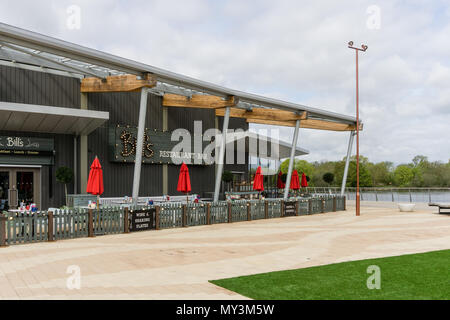 Bill's Restaurant, part of a 21 strong British café chain, founded by Bill Collison in 2000; Rushden Lakes, Northamptonshire, UK - Stock Image