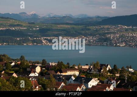 Männedorf, a community on the Zürichsee or Lake Zurich, Switzerland - Stock Image