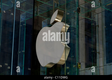 Apple,Logo,New,York,NY - Stock Image