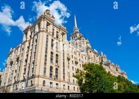 Hotel Ukraina, now Radisson Royal Hotel, Moscow, Russia - Stock Image