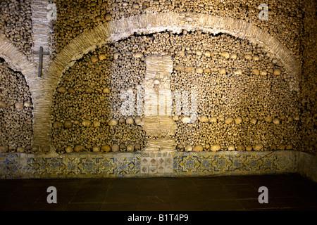 Chapel of Bones Capela dos Ossos Church of St Francis Igreja de São Francisco Évora, Alentejo region, - Stock Image