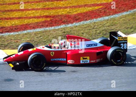 1993 Gerhard Berger German Ferrari F93A Interlagos Brazilian GP dnf - Stock Image