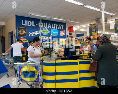 Lidl supermarket in Germany - Stock Image