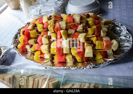 Local African food items on display at the open market - Stock Image