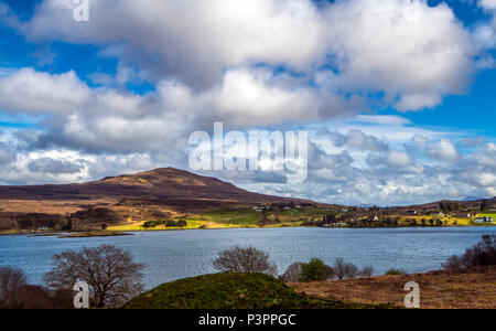 The Kyle of Lochalsh - a body of water separating the Isle of Skye from the Scottish mainland in the Highlands of Scotland. - Stock Image