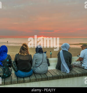 People,Watching,Sunset,Margate,Thanet,Kent,England,UK - Stock Image