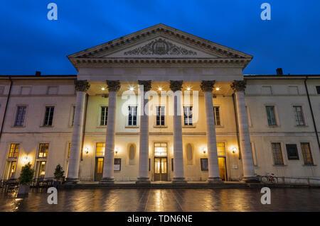 Como - The Teatro Sociale at dusk. - Stock Image