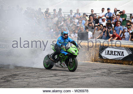 Pictured today 5/7/19 is the second day of the Goodwood Festival of speed near Chichester in West Sussex - Stock Image