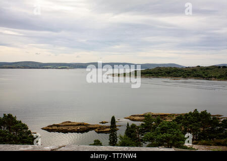 View of Glengarriff Bay which is a part of a much bigger Bantry Bay seen from Garinish Island.County Cork,Ireland. - Stock Image