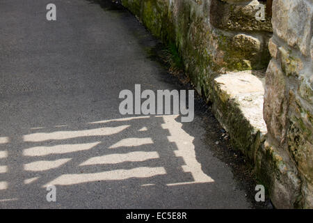 shadow of a gate - Stock Image