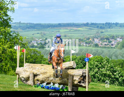 Rockingham Castle, Corby, UK. 21st May, 2017. Riding Drops of Brandy, Zara Tindall (granddaughter of Queen Elizabeth - Stock Image