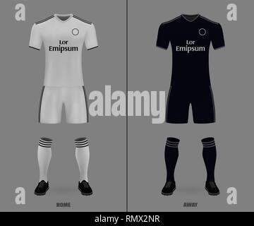 Realistic soccer shirt Real Madrid 2020, jersey template for ...
