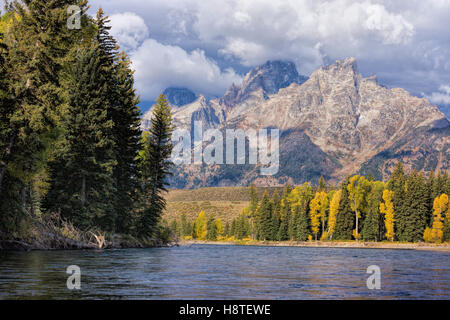 Snake River, Grand Teton National Park, Wyoming, USA - Stock Image