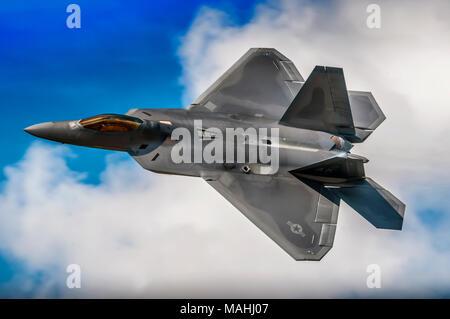 USAF F22 Raptor Stealth Fighter Aircraft - Stock Image