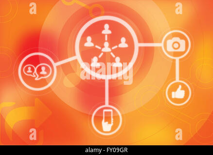Illustration of social networking concept - Stock Image