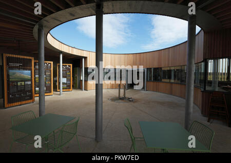 The Lookout, new visitor centre at Holkham National Nature Reserve and Beach. - Stock Image