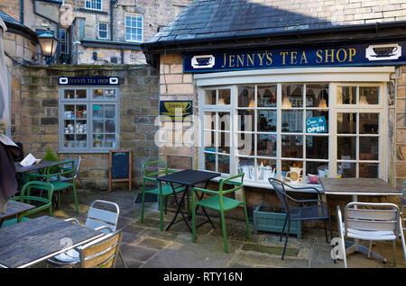 Jenny's Tea Shop Café Restaurant in the Montpellier district of Harrogate North Yorkshire - Stock Image