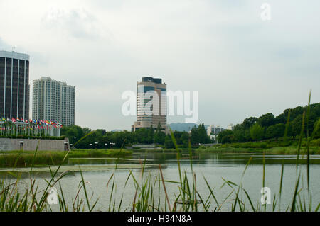 Olympic park in Seoul in summer, South Korea - Stock Image