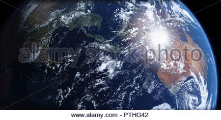 Southeast Asia and Australia from space - Stock Image