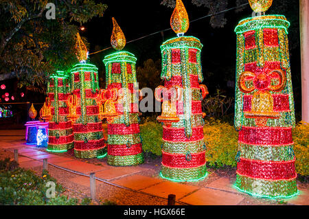 Some Christmas decoration at the North Park (Parque Norte) in Medellin, Colombia - Stock Image