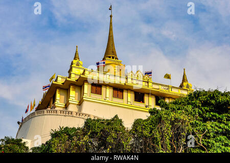 Temple in the Golden Mount in Bangkok in Thailand - Stock Image