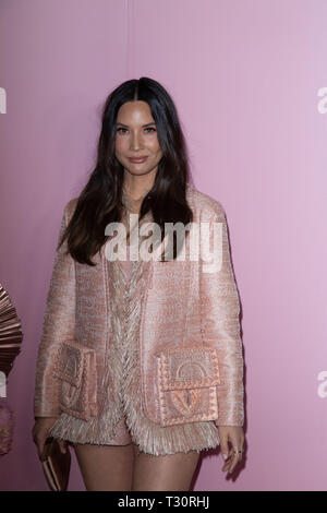Los Angeles, USA. 30th Jan, 2019. Olivia Munn attends the launch of Patrick Ta's Beauty Collection at Goya Studios on April 04, 2019 in Los Angeles, California. Credit: The Photo Access/Alamy Live News - Stock Image
