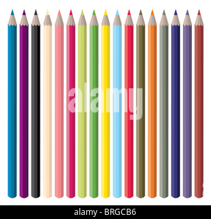 Color Pencils Illustration - Stock Image