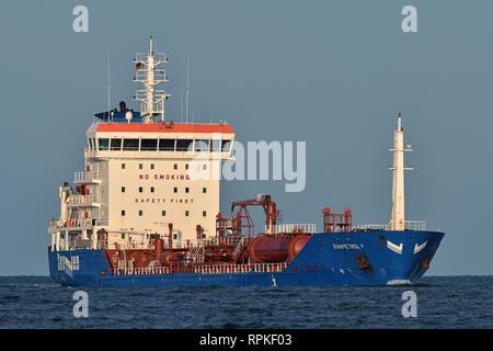 Chemical/Oil Products Tanker Eviapetrol V - Stock Image