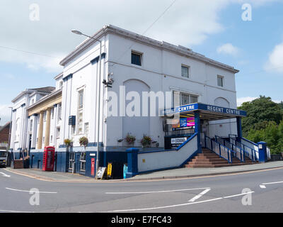 The Regent Cinema building in Newtown, Powys Wales UK. - Stock Image