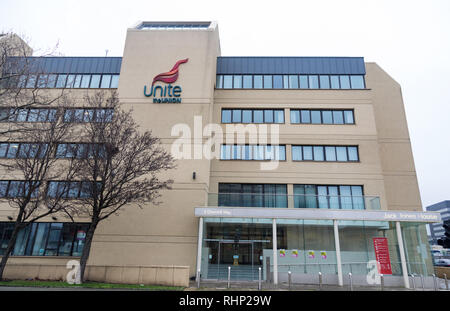 ack Jones House the Liverpool offices of Unite the Union Liverpool January 2019 - Stock Image
