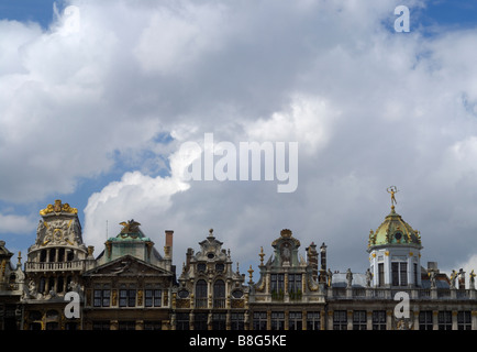Guildhouses Grand Place Brussels - Stock Image